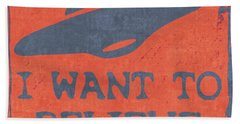 X Files I Want To Believe Hand Towel