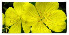 Hand Towel featuring the photograph Yellow Flowers by Stephanie Moore