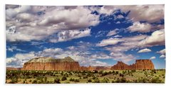 Capitol Reef National Park Catherdal Valley Bath Towel