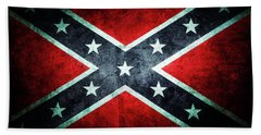 Bath Towel featuring the photograph Confederate Flag by Les Cunliffe