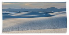 The Unique And Beautiful White Sands National Monument In New Mexico. Hand Towel
