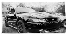 2003 Ford Mustang Mach 1 Bw Bath Towel by Rich Franco