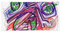 2010 Abstract Drawing Eleven Bath Towel by Lynne Taetzsch