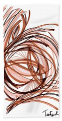 2010 Abstract Drawing Six Bath Towel