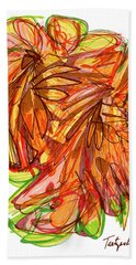2010 Abstract Drawing Ten Bath Towel by Lynne Taetzsch