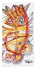 2010 Drawing Three Hand Towel by Lynne Taetzsch
