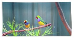Aussie Rainbow Lovebirds Bath Towel
