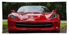 2014 Red Corvette Hand Towel