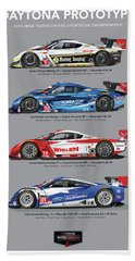 2015 Daytona Prototype Poster Bath Towel