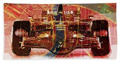 2015 Ferrari Formula 1 On New Orleans Old Map Hand Towel