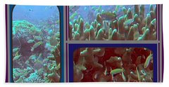 2015 Periscope Perspective Gallery Underwater Coral Reef Vegitation Photography In Landscape Format Bath Towel