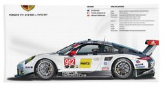 2016 911gt3r Rsr Poster Hand Towel