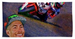 2016 Fim Superbike Nicky Hayden Bath Towel
