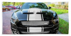 2017 Ford Gt Shelby Mustang Anniversary Edition Super Snake Bath Towel