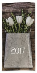 Hand Towel featuring the photograph 2017 by Kim Hojnacki