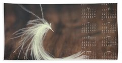 Bath Towel featuring the photograph 2017 Wall Calendar Feather by Ivy Ho