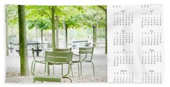 Bath Towel featuring the photograph 2017 Wall Calendar Paris by Ivy Ho