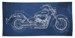 2018 Honda Shadow Aero Abs Blueprint, Blue Blueprint Bath Towel
