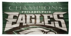 2018 Superbowl Eagles Barn Wall Hand Towel