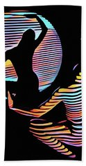 2039s-mak Female Figure In Spotlight Rendered In Composition Style Hand Towel