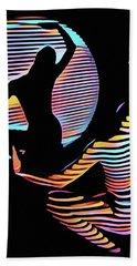 2039s-mak Female Figure In Spotlight Rendered In Composition Style Bath Towel