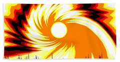 205 - Poster Climate Change  2 ... Burning Summer  Sun  Hand Towel