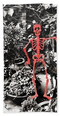 206 Dancing Bones Hand Towel by JAMART Photography