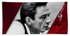Johnny Cash Collection Hand Towel by Marvin Blaine