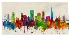 San Francisco City Skyline Bath Towel