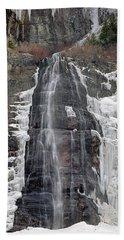 212m40 Bridal Veil Falls Utah Hand Towel