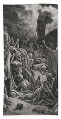Engraving From The Dore Bible Hand Towel