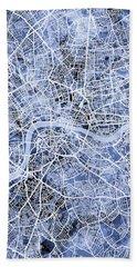 London England Street Map Hand Towel