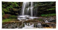 West Virginia Waterfall Hand Towel by Thomas R Fletcher