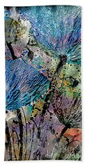 22a Abstract Floral Painting Digital Expressionism Bath Towel