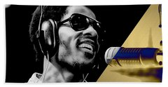 Stevie Wonder Collection Hand Towel by Marvin Blaine
