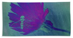 Texture Flowers Hand Towel by Andre Faubert