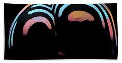 2696s-ak Zebra Striped Woman Rear View In Composition Style Bath Towel