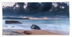 Sunrise Seascape With Clouds Hand Towel