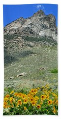 2d11126 South Wall In Ruby Mountains Hand Towel