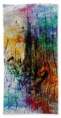 Hand Towel featuring the painting 2l Abstract Expressionism Digital Painting by Ricardos Creations