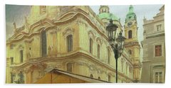 2nd Work Of St. Nicholas Church - Old Town Prague Bath Towel