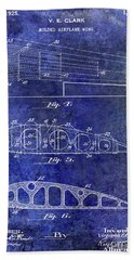 1925 Airplane Wing Patent Bath Towel
