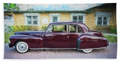 1947 Lincoln Continental Bath Towel by Rich Franco