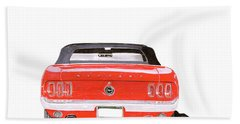 Bath Towel featuring the painting 1969 Mustang Convertible by Jack Pumphrey