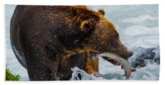 Alaska Brown Bear Bath Towel