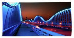 Amazing Night Dubai Vip Bridge With Beautiful Sunset. Private Ro Bath Towel