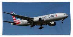 American Airlines Boeing 777 Bath Towel