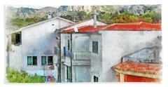 Arzachena Urban Landscape Bath Towel