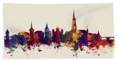 Bern Switzerland Skyline Bath Towel