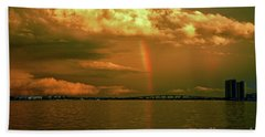 Bath Towel featuring the photograph 3- Blue Heron Bridge by Rainbows